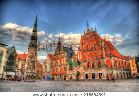 House of the Blackheads and St. Peter's Church in Riga Stock photo © chrisdorney