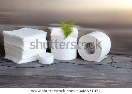 Boglya fehér papírzsebkendő papír tekercsek Stock fotó © tompixel