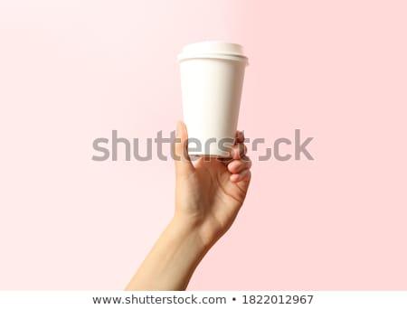 Tasse café asian affaires regarder Photo stock © elwynn