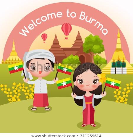 Munecas pagoda Myanmar culto Asia muneca Foto stock © sundaemorning