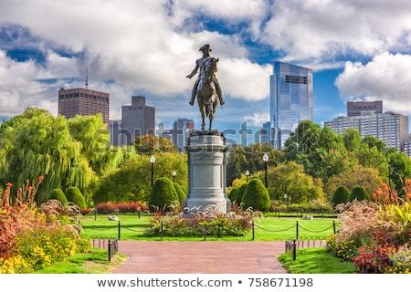 Сток-фото: Вашингтон · статуя · Бостон · верховая · езда · лошади · общественного