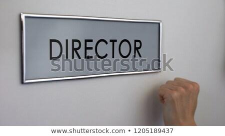 Zakenman financiële kantoor deur naar helpen Stockfoto © stevanovicigor