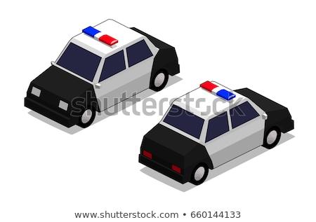 Orthographic police car Stock photo © ambualang