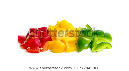 Stock photo: Pile of Chopped Yellow Pepper