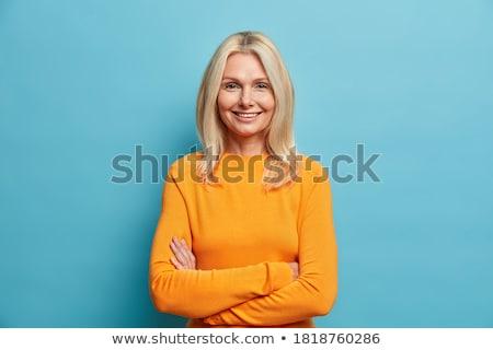 великолепный женщину нежный улыбка Сток-фото © dash