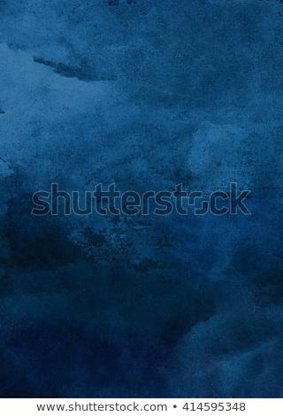 Blauw aquarel plek water papier textuur Stockfoto © gladiolus