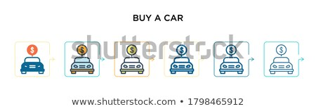 Cars mobile icons set different vector car forms. Stock photo © michalsochor