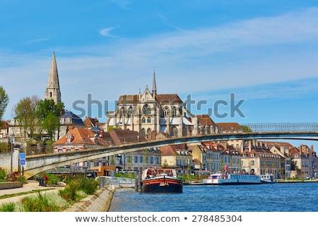 Auxerres village in Burgundy Stock photo © Hofmeester