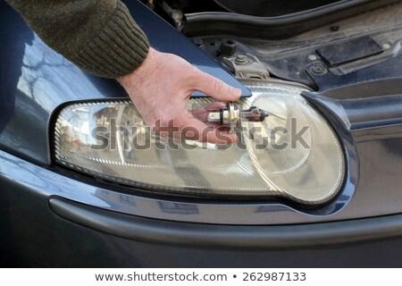 broken h4 car light bulb stock photo © simazoran
