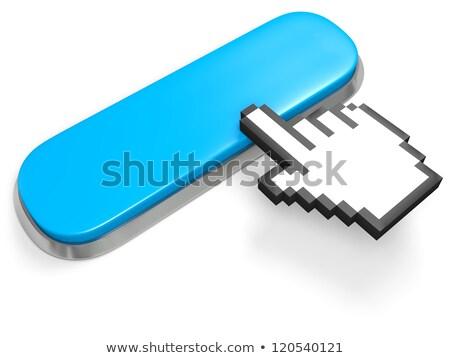 Mavi web düğmeler el imleç veri Stok fotoğraf © tashatuvango