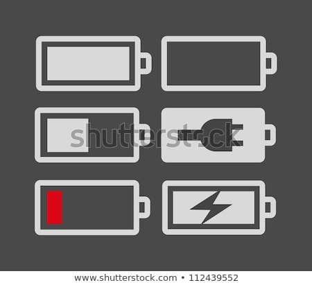 full charge battery simple icon on white background stock photo © tkacchuk