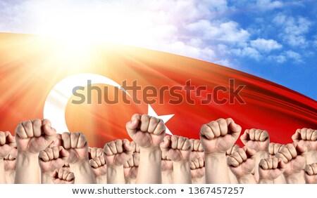 bayrak · Türkiye · beyaz · kültür · nesneler · afiş - stok fotoğraf © stevanovicigor