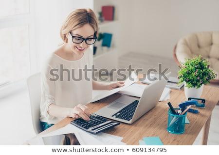 Boekhouder calculator hand geïsoleerd witte business Stockfoto © fantazista