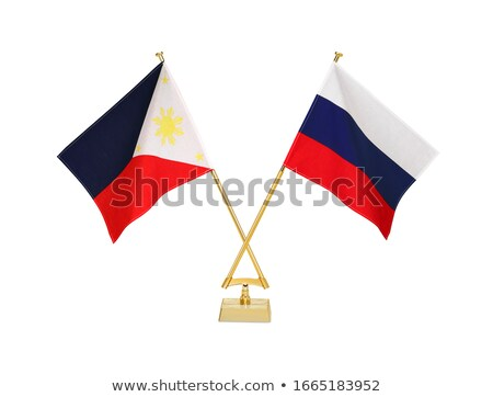 Russia and Philippines - Miniature Flags. Stock photo © tashatuvango