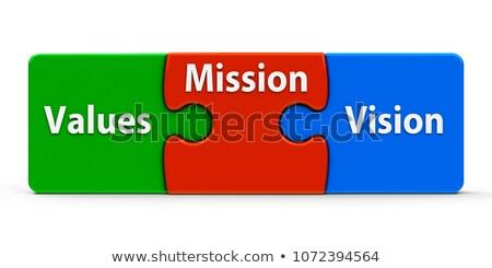 Help - Text on Red Puzzles with White Background. Stock photo © tashatuvango