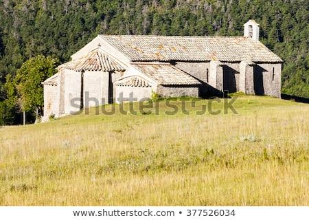 Küçük kilise Fransa Bina seyahat mimari Avrupa Stok fotoğraf © phbcz