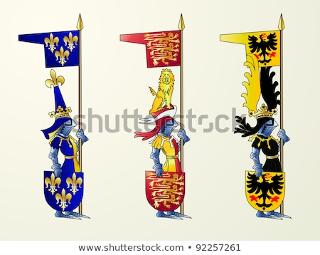 The flag of medieval France Stock photo © wjarek
