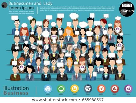 Nowoczesne biznesmen infografiki ilustracja ambitny młodych Zdjęcia stock © vectorikart
