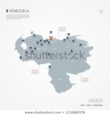 orange button with the image maps of Venezuela Stock photo © mayboro
