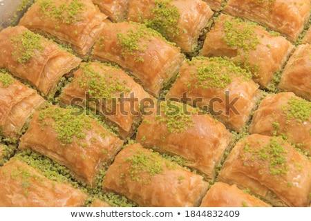 pisztácia · török · sütemény · desszert · autentikus · zöld - stock fotó © laciatek