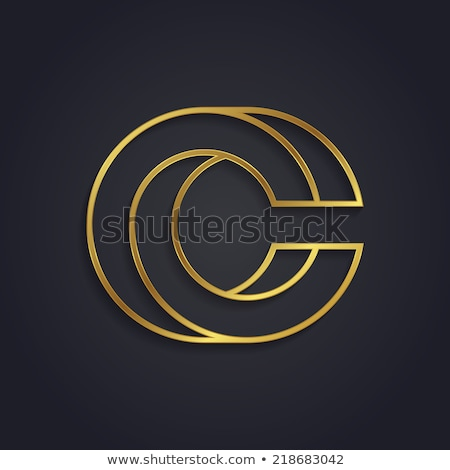 Vector graphic gold alphabet / impossible letter symbol / Letter stock photo © feabornset