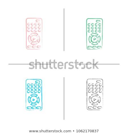 plastica · potere · pulsanti · bianco · simbolo · verde - foto d'archivio © rastudio
