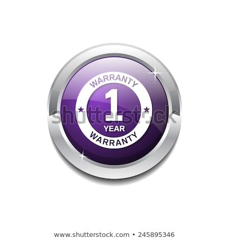 1 year warranty violet vector icon design stock photo © rizwanali3d
