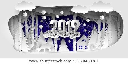 New Year Winter holidays landscape Stock photo © netkov1
