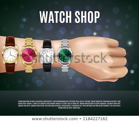 браслет женщины часы металл золото ретро Сток-фото © ozaiachin
