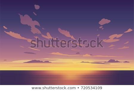 закат вечер облака звук Северная Каролина природы Сток-фото © wildnerdpix
