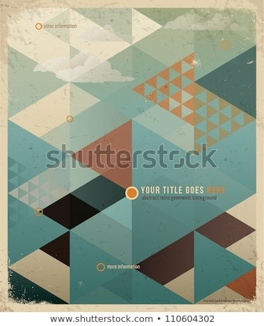 Vintage old book on abstract geometric background Stock photo © ankarb