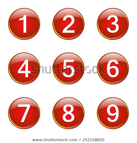 8 Number Circular Vector Red Web Icon Button Stock photo © rizwanali3d