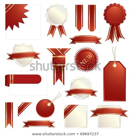 bandera · papel · etiqueta · símbolo - foto stock © kaikoro_kgd