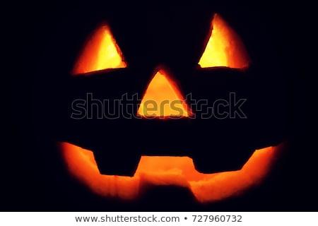 ijesztő · halloween · piros · lámpás · sötét · háttér - stock fotó © dla4