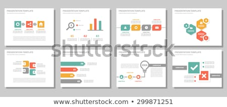 modèle · présentation · vecteur · graphiques · graphiques · bleu - photo stock © orson