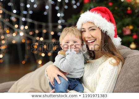 mãe · filho · natal · manhã · pequeno · menino - foto stock © neonshot