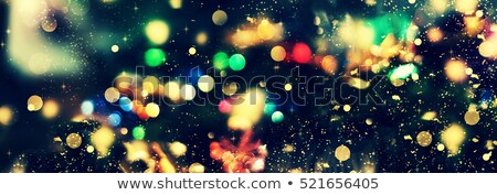Empty Christmas Decoration with Snow and Background of Blurred Holiday Lights Stock photo © maxpro