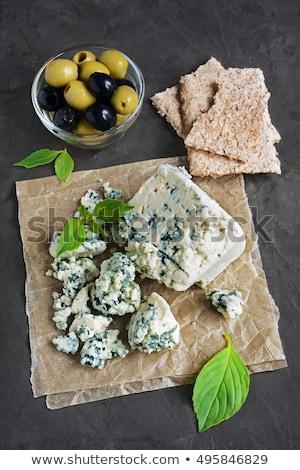 ブルーチーズ スライス 木材 チーズ 朝食 クローズアップ ストックフォト © Digifoodstock