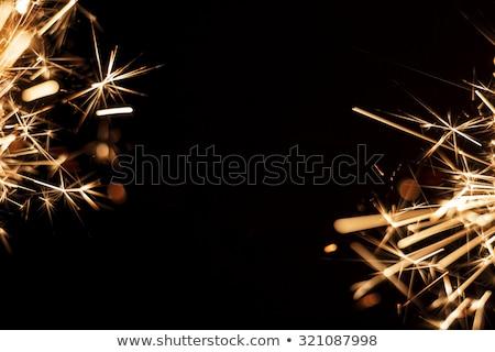 Vuurwerk sterretje zwarte illustratie vector formaat Stockfoto © orensila