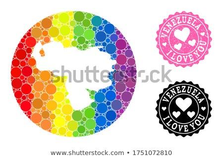 Venezuela homoszexuális térkép vidék büszkeség zászló Stock fotó © tony4urban
