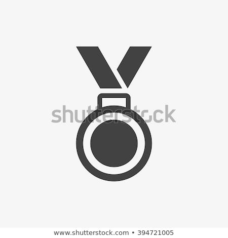 érem ikon sport terv felirat csillag Stock fotó © kiddaikiddee