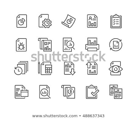 business · verslag · lijn · icon · man · presenteren - stockfoto © RAStudio