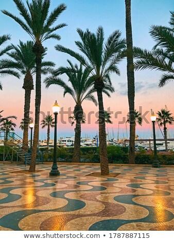 город · Испания · пляж · небе · здании · солнце - Сток-фото © sebikus