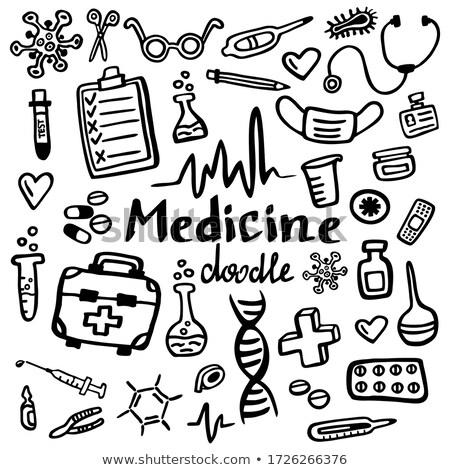 сердце · штукатурка · иллюстрация · белый · любви · медицинской - Сток-фото © netkov1