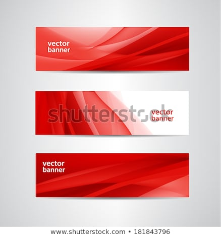 abstract red wavy corporate background stock photo © saicle
