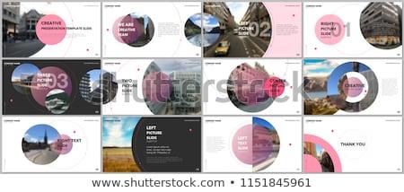 flyer · brochure · modello · modello · di · progettazione · azzurro · stile - foto d'archivio © orson