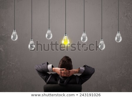 парень Идея ярко мозг лампы Сток-фото © ra2studio