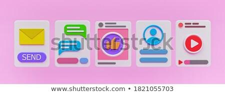 Internet · blog · temizlemek · eps · dosya · renk - stok fotoğraf © expressvectors