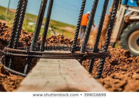 鉄 · 具体的な · 建設現場 · 建設 · 背景 · 錆 - ストックフォト © meinzahn
