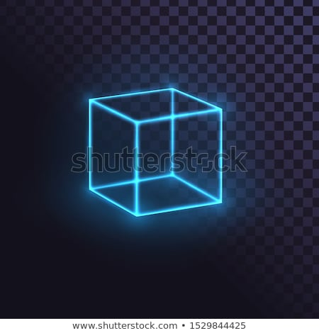 server sign in blue cube on boxes 3D illustration Stock photo © marinini